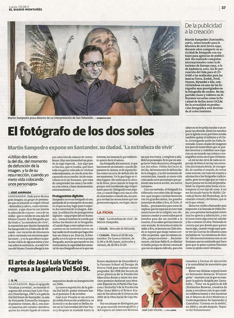 Diario Montañés La Extrañeza Martin Sampedro
