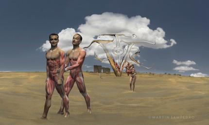 """""""Los contrabandistas de Ronda"""". Federico García Lorca y Salvador Dalí en carne viva. Martin Sampedro. 2009"""